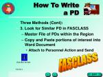 how to write a pd16