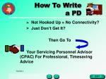 how to write a pd17