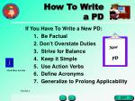 how to write a pd18
