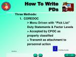 how to write pds