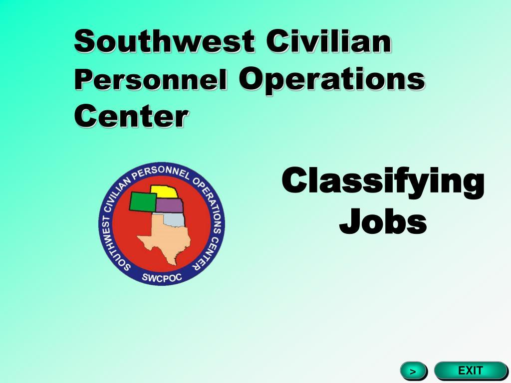 southwest civilian personnel operations center l.