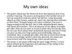 my own ideas