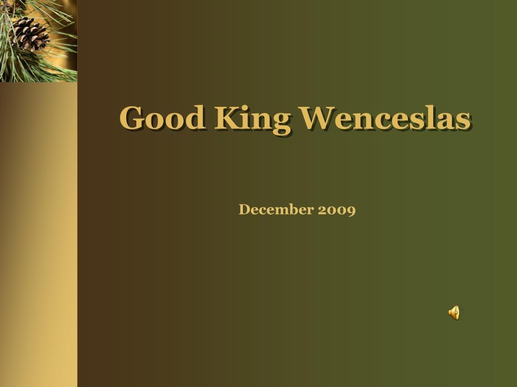 good king wenceslas l.