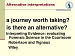 alternative interpretations