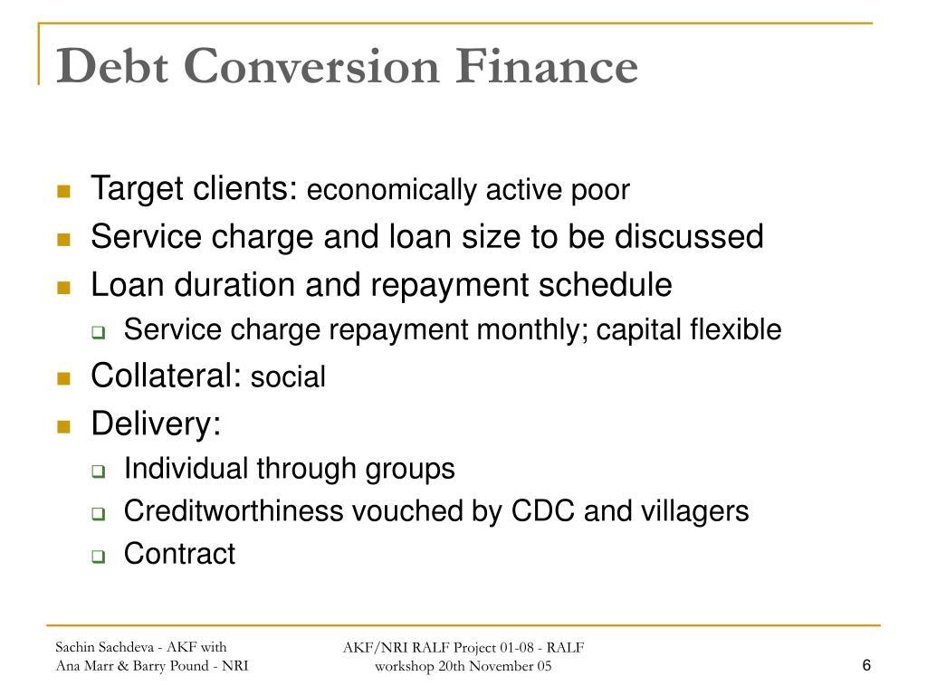 Debt Conversion Finance