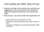 civil liability act 2002 duty of care