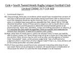 cole v south tweed heads rugby league football club limited 2004 217 clr 46996