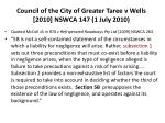 council of the city of greater taree v wells 2010 nswca 147 1 july 2010137