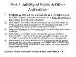 part 5 liability of public other authorities59