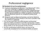 professional negligence144