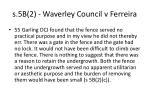 s 5b 2 waverley council v ferreira133