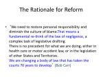 the rationale for reform47