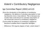 volenti v contributory negligence