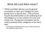 what did lord atkin mean