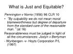 what is just and equitable