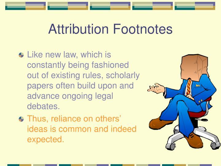 Attribution Footnotes