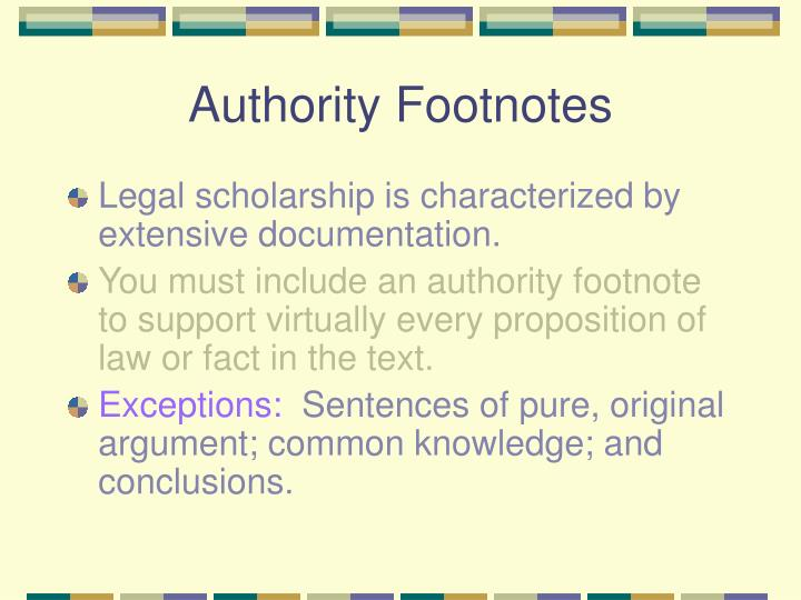 Authority Footnotes