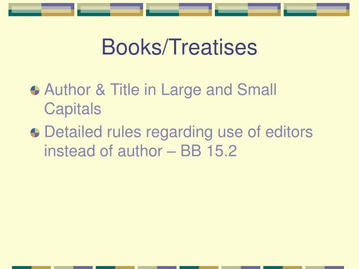 Books/Treatises