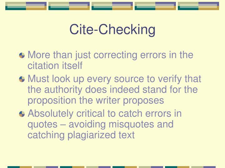 Cite-Checking