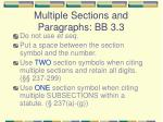multiple sections and paragraphs bb 3 3