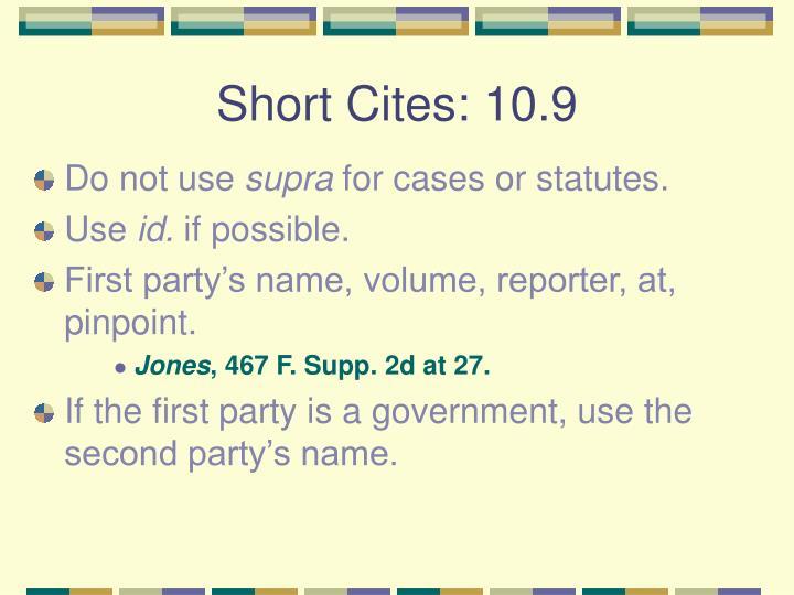 Short Cites: 10.9