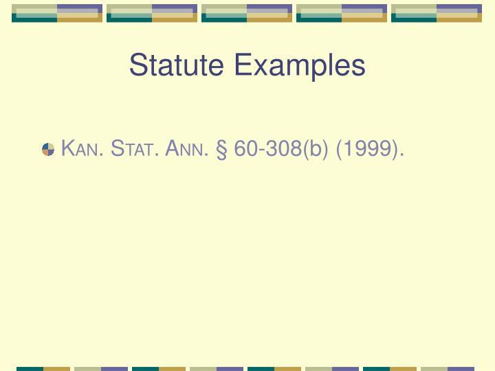 Statute Examples