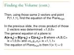 finding the volume cont14