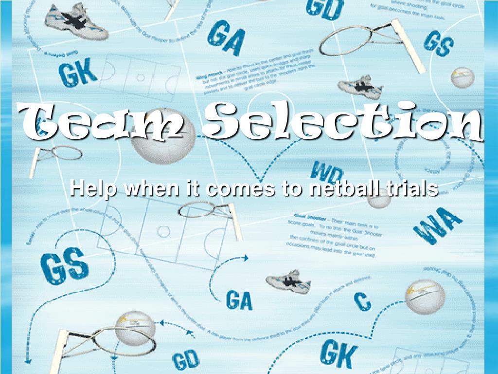 team selection l.
