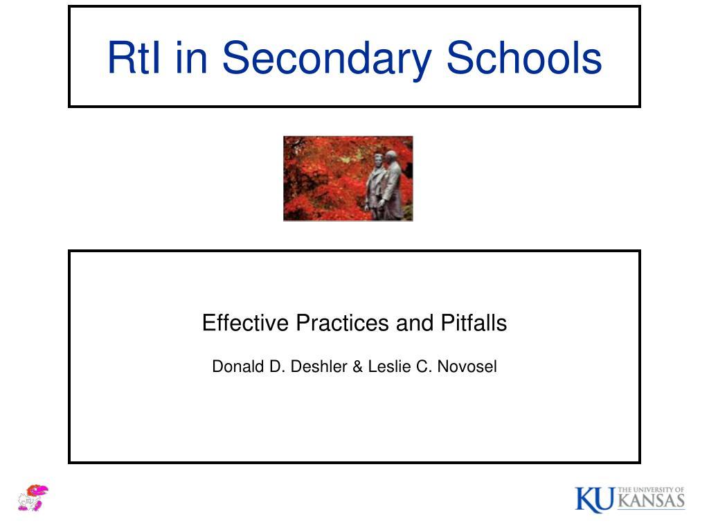 rti in secondary schools l.