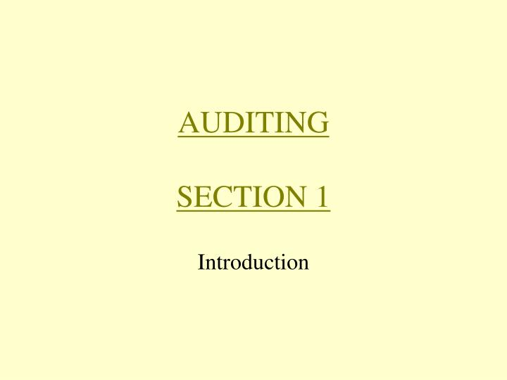 auditing section 1 n.