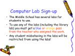 computer lab sign up