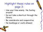 highlight these rules on page 3