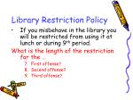 library restriction policy
