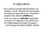 in class demo