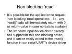 non blocking read