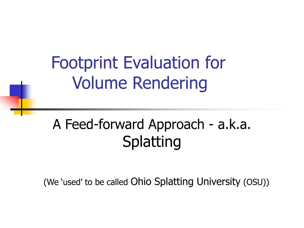 footprint evaluation for volume rendering l.