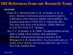 sbi references from our research team43