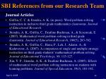 sbi references from our research team44