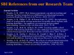 sbi references from our research team45