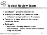 typical review team