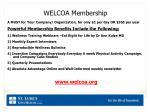 welcoa membership