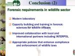 f orensic requirements in wildlife sector