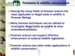 forensic s in wildlife c onservation