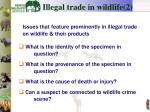 i llegal trade in wildlife 2