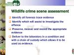 wildlife crime scene assessment