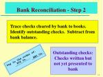 bank reconciliation step 2