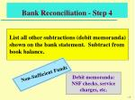bank reconciliation step 4