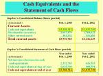 cash equivalents and the statement of cash flows