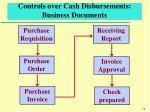controls over cash disbursements business documents
