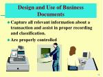 design and use of business documents